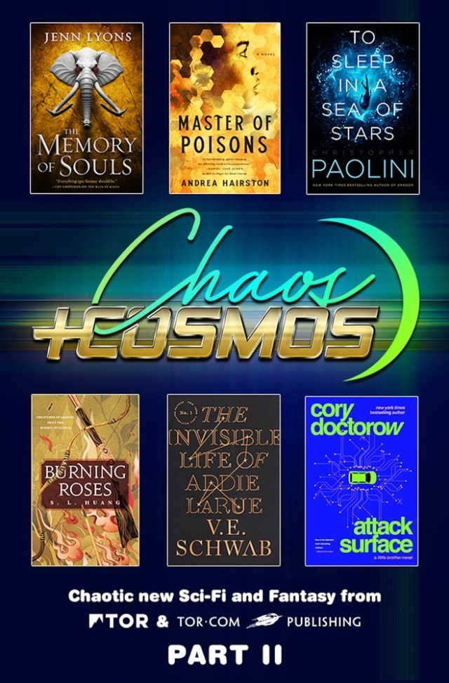 Chaos and Cosmos Sampler, Part II: Chaotic new sci-fi and fantasy from Tor and Tor.com Publishing