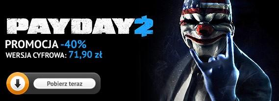 Premiera pierwszego DLC do Payday 2 w sklepie gram.pl! Wersja podstawowa taniej o 40 procent!