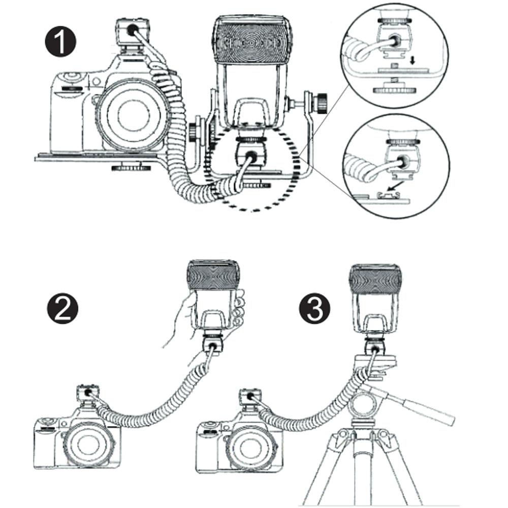 Viltrox oc-e3 e-ttl ii off camera flash kabel voor canon