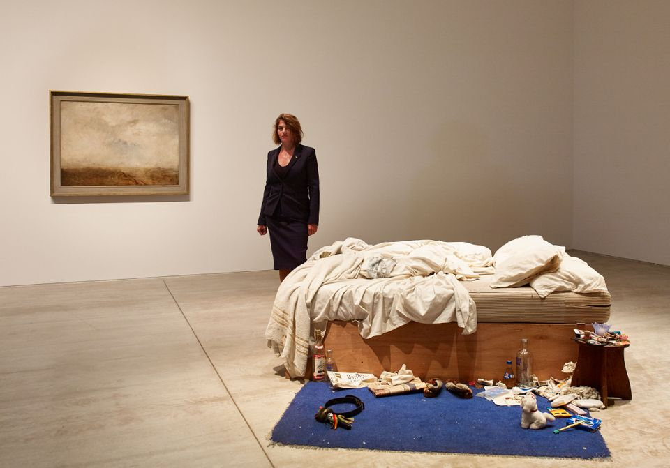 Tracey Emin at her exhibition Tracey Emin My Bed/JMW Turner at Turner Contemporary, Margate 13 October 2017 - 14 January 2018