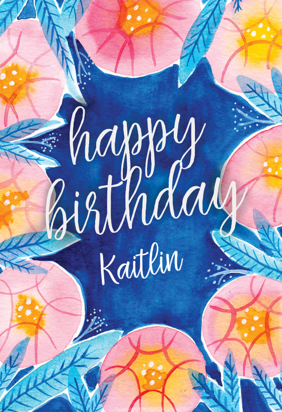 Botanical Birthday Card Free Greetings Island