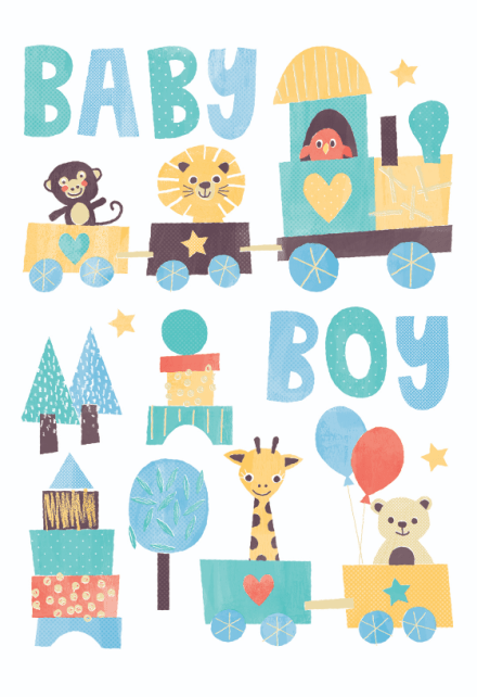 Baby Boy Shower Card Printable : shower, printable, Shower, Greetings, Island