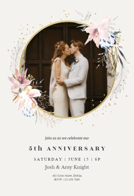 Anniversary Invitation Templates Free Greetings Island