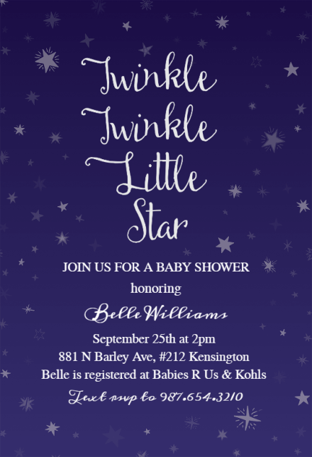 Le Little Star Baby Shower