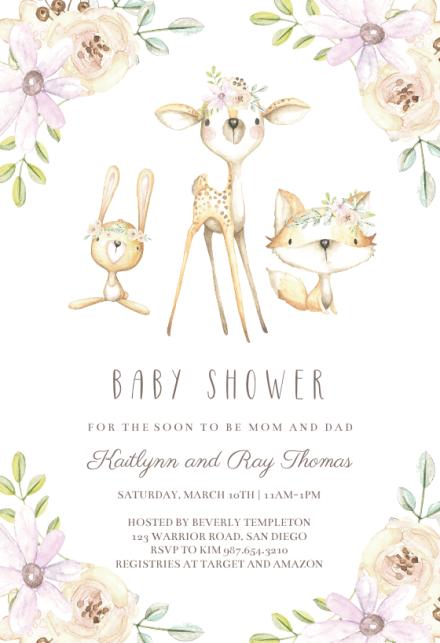 Whimsical Woodland Baby Shower