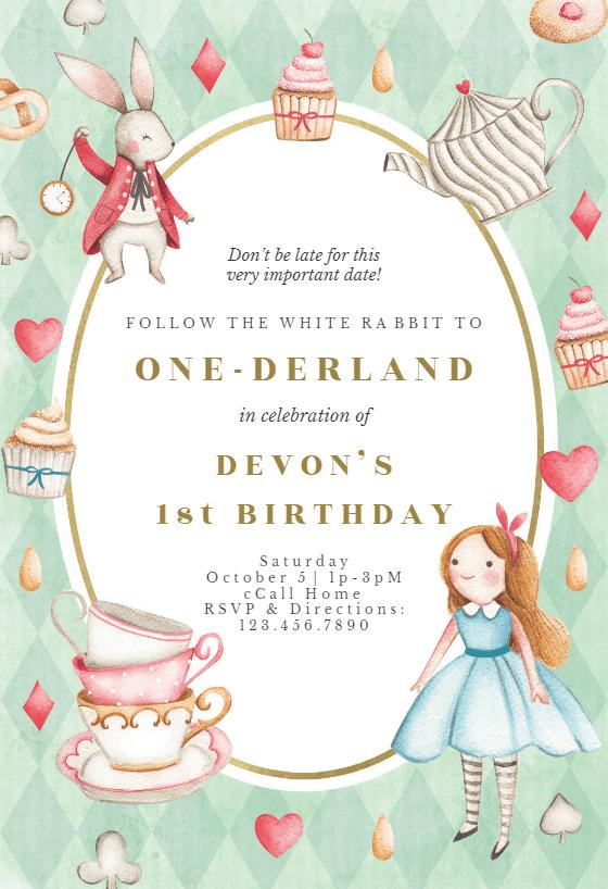 onederland birthday invitation