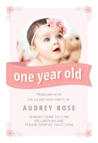 Pink Ribbon - Birthday Invitation Template (Free ...