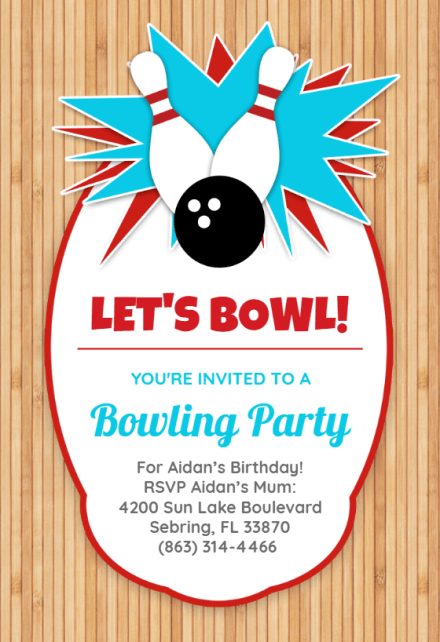 bowling birthday party birthday