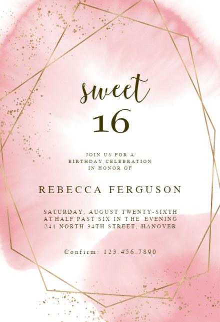 sweet 16 invitation templates free