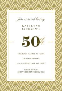 50th Golden Birthday - Birthday Invitation Template (Free ...