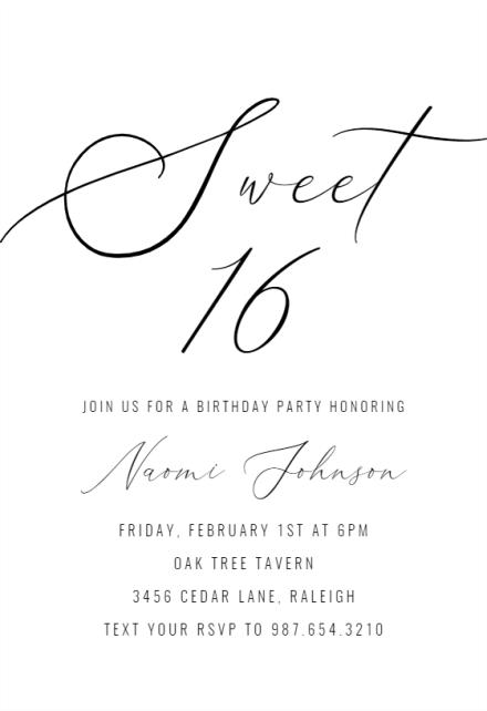 sweet 16 sweet 16 invitation template