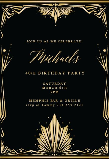 great gatsby invitation templates free