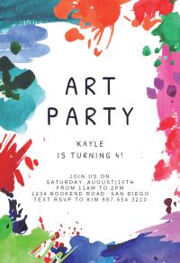 Art Party - Birthday Invitation Template (Free ...