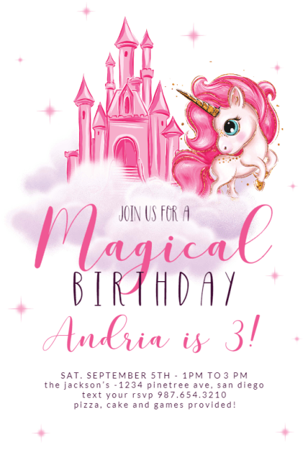 princess birthday invitation templates