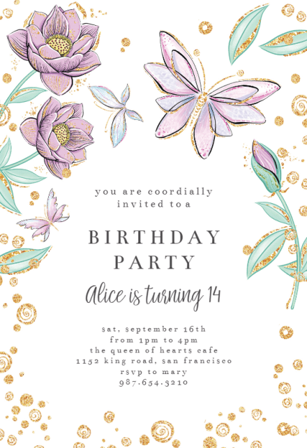 butterfly invitation templates free