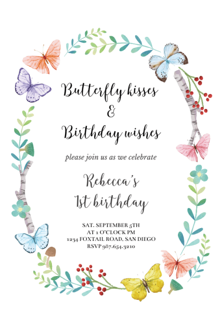 Butterfly Invitations Templates Free : butterfly, invitations, templates, Invitation, Templates, (Free), Greetings, Island