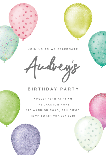 kids birthday invitation templates