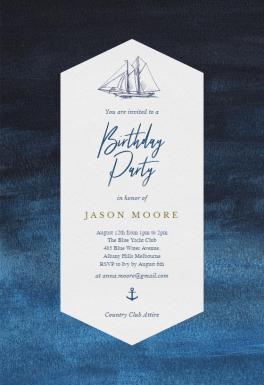 Nautical Yacht - Birthday Invitation Template (free ...