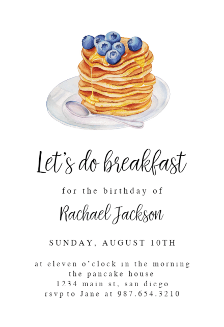 brunch lunch party invitation