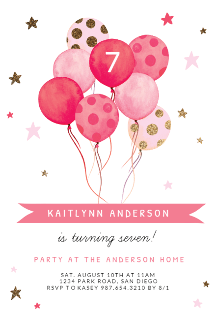 kids birthday invitation templates