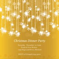 Falling Stars - Christmas Invitation Template (Free ...