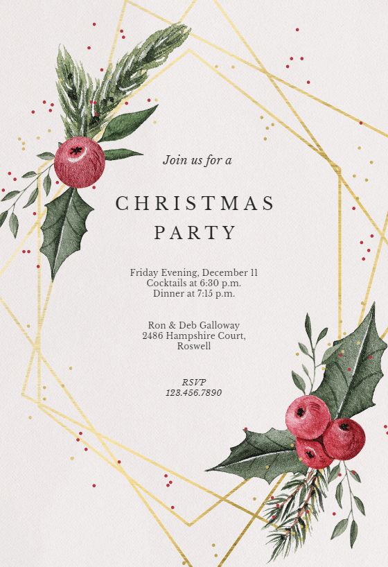 downloadable christmas party invitations templates free