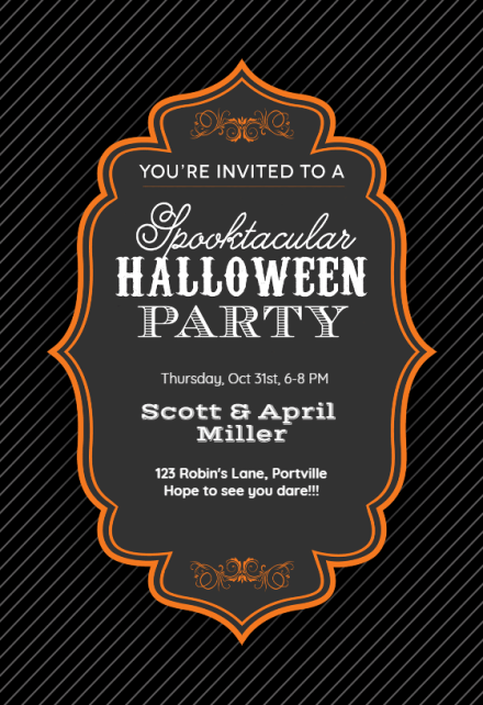 Start your halloween party off the proper way with these 13 sophisticated (and spooky) invitation. Halloween Party Invitation Templates Free Greetings Island