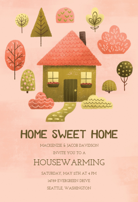 Housewarming Invitation Templates Free Greetings Island