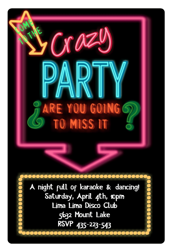 Disco Party Invitation Template Free Greetings Island