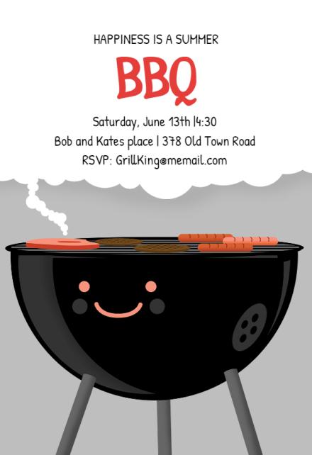 bbq party invitation flyer templates