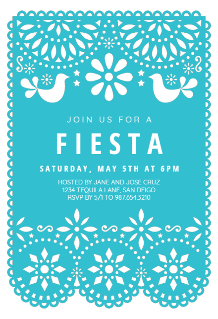 fiesta birthday invitation templates