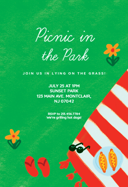 picnic invitation templates free