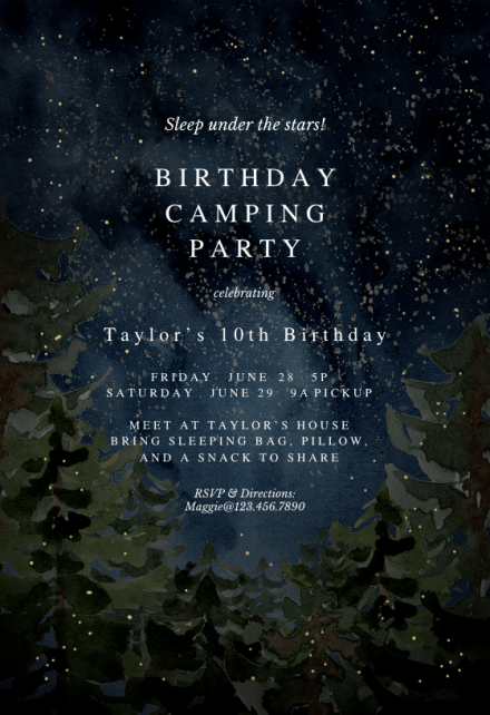 printable party invitation template