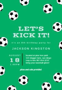 Soccer Birthday - sports & games Invitation Template (Free ...