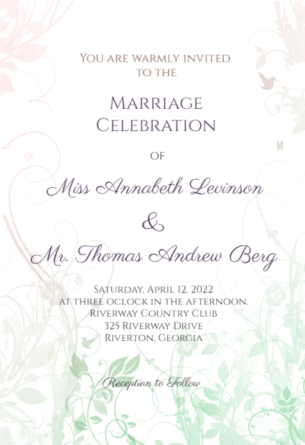 83 free wedding invitation template word document templates by wedding. Wedding Invitation Templates Free Greetings Island