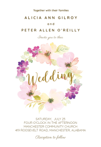 Sentimental Circle - Wedding Invitation Template (free ...