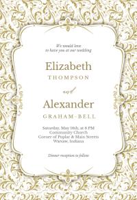 Tasteful Tapestry Frame - Wedding Invitation Template ...