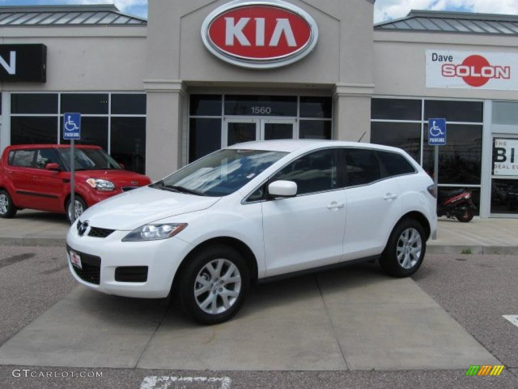hight resolution of 2008 crystal white pearl mica mazda cx 7 sport 10150857