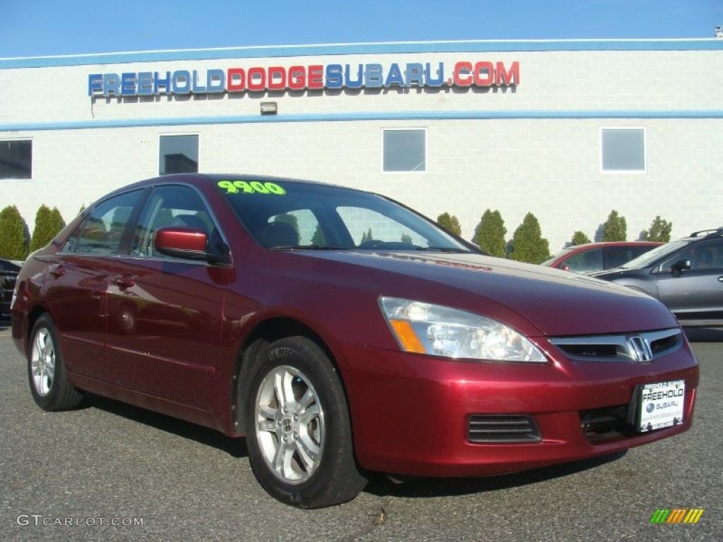 hight resolution of 2006 accord ex l sedan redondo red pearl gray photo 1