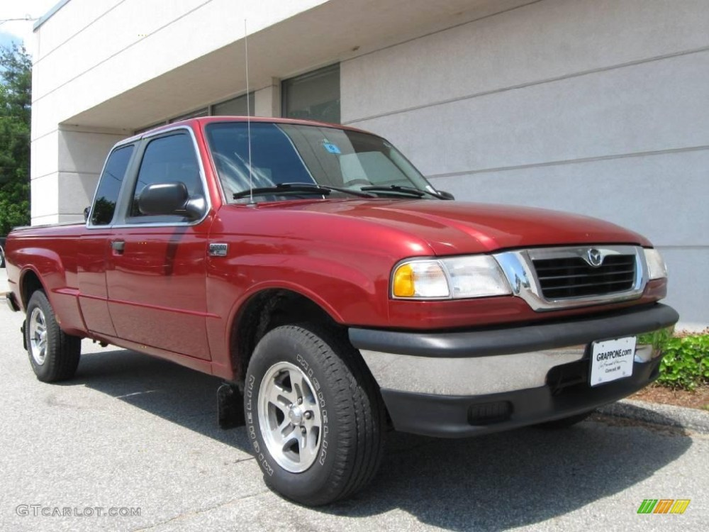 medium resolution of 2000 b series truck b3000 se extended cab toreador red metallic gray photo