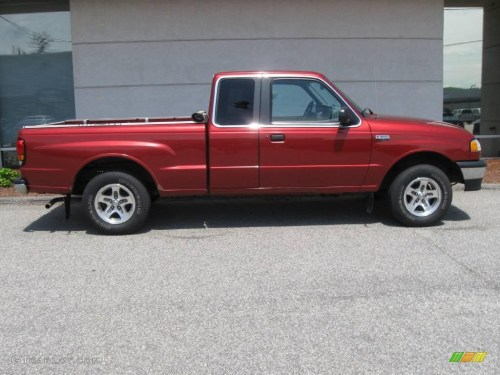 small resolution of 2000 b series truck b3000 se extended cab toreador red metallic gray photo