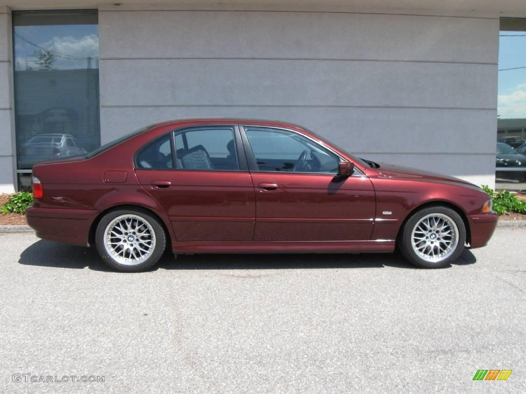 hight resolution of 2001 5 series 530i sedan siena red metallic black photo 2