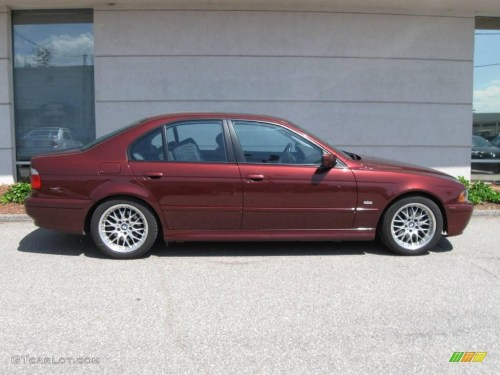 small resolution of 2001 5 series 530i sedan siena red metallic black photo 2