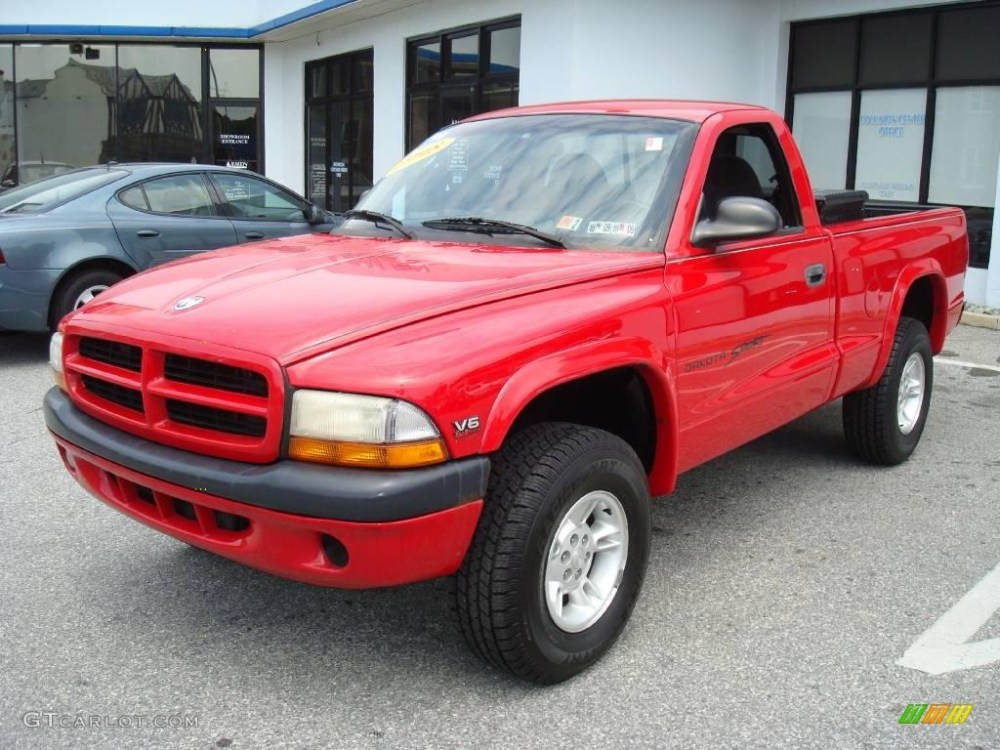 medium resolution of 1998 dakota sport regular cab 4x4 flame red agate photo 1