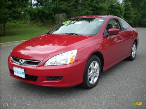 small resolution of 2006 accord lx coupe san marino red ivory photo 7