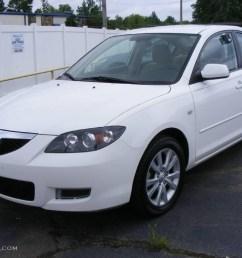 2007 mazda3 i sport sedan rally white beige photo 1 [ 1024 x 768 Pixel ]