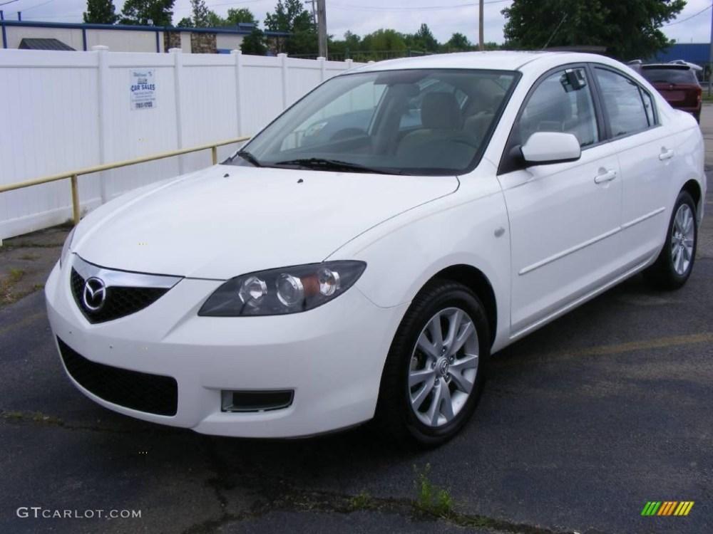 medium resolution of 2007 mazda3 i sport sedan rally white beige photo 1