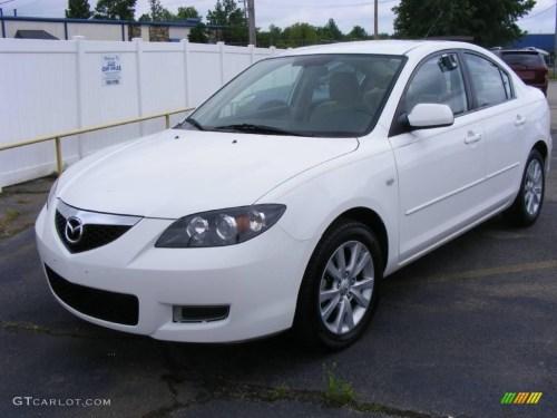 small resolution of 2007 mazda3 i sport sedan rally white beige photo 1