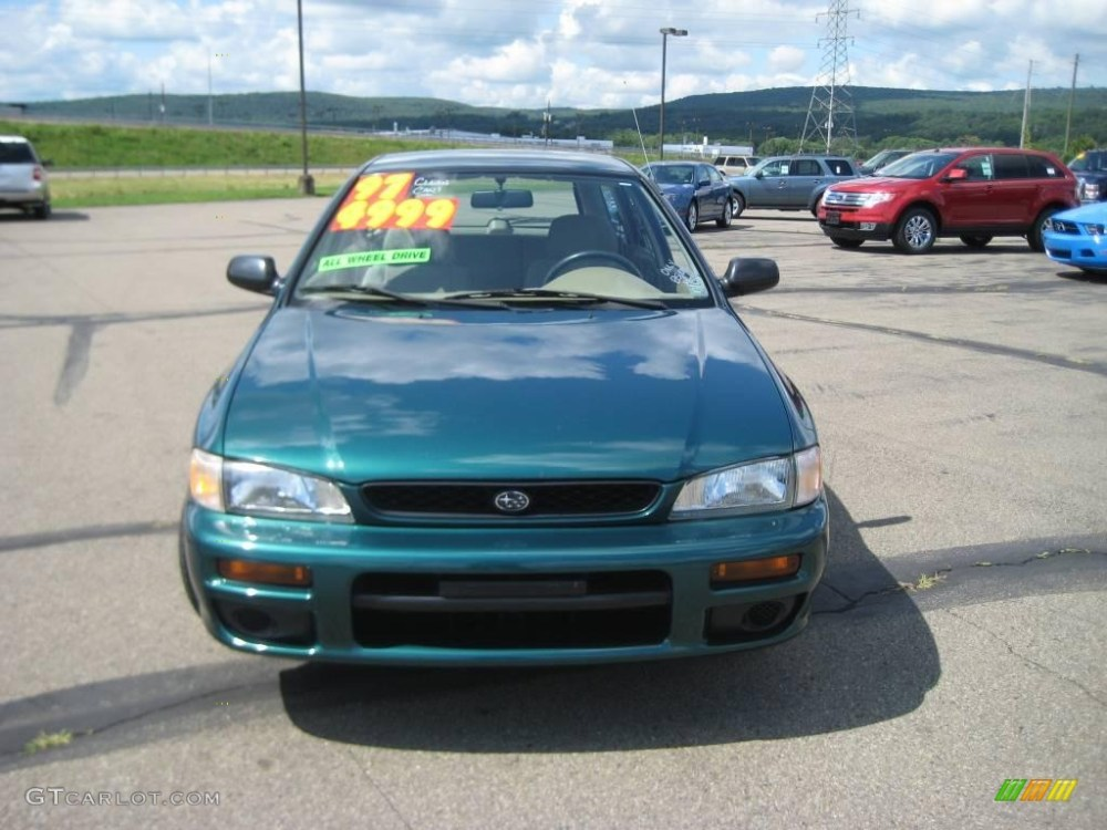 medium resolution of 1997 impreza l wagon acadia green pearl metallic beige photo 2