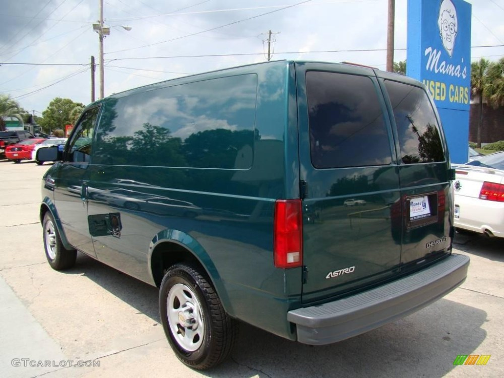 medium resolution of 2004 astro cargo van dark forest green metallic neutral photo 6